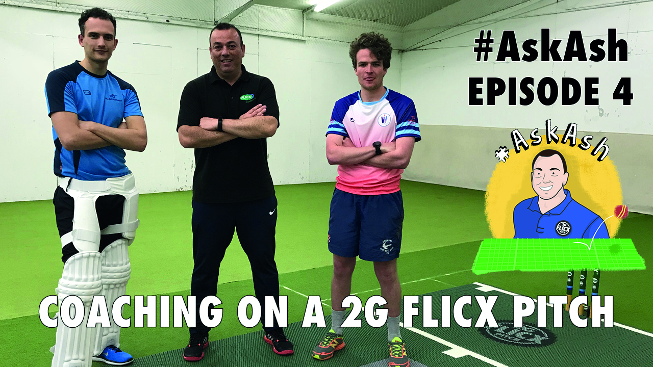 #AskAsh episode 4 Coaching Cricket on the 2G Flicx Skills Pitch
