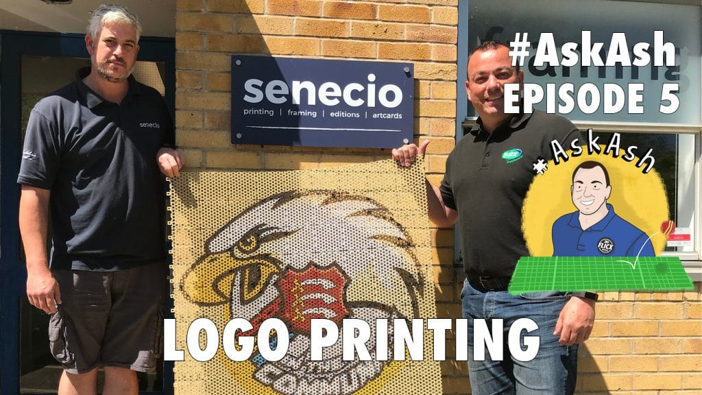 #AskAsh episode 5 Your logo printed on a cricket pitch!