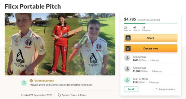 Crowdfunding for Cricket | Merbein South CC