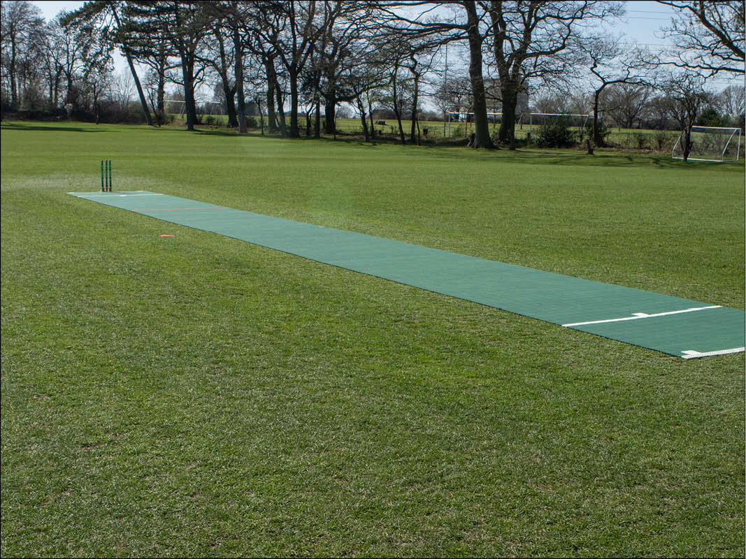 Roll out portable wicket